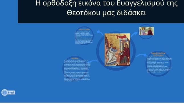 Παρουσίαση - Ευαγγελισμός Θεοτόκου