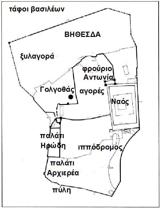 χάρτης στα χρόνια του Χριστού