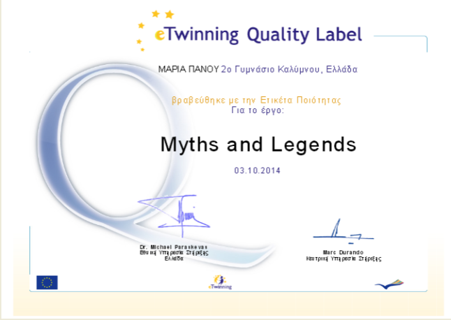 Etwinning_ql-Myths_and_Legends